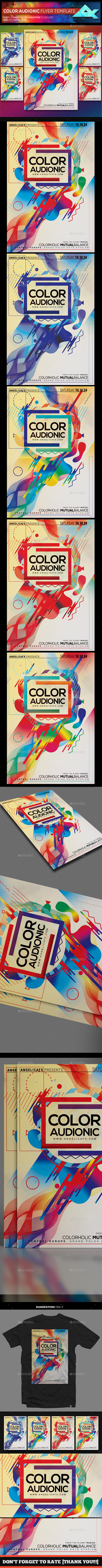 Color Audionic Flyer Template - Events Flyers