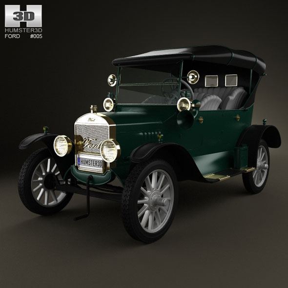 Ford Model T 4door Tourer 1924 - 3DOcean Item for Sale