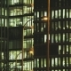 People Working in Tall Office Building with Street Lamps - VideoHive Item for Sale