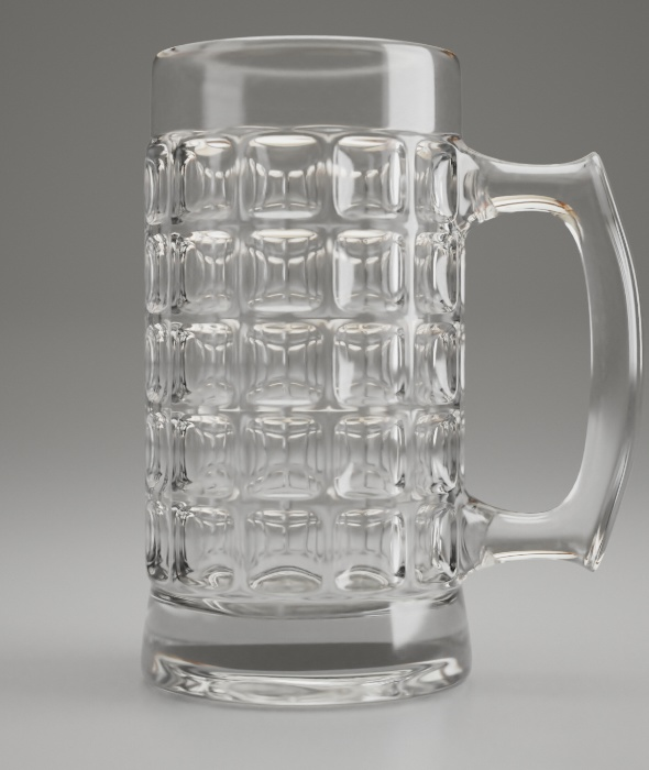 Dimpled Glass Beer Mug - 3DOcean Item for Sale
