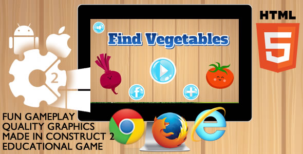 Find Vegetables Educational - CodeCanyon Item for Sale