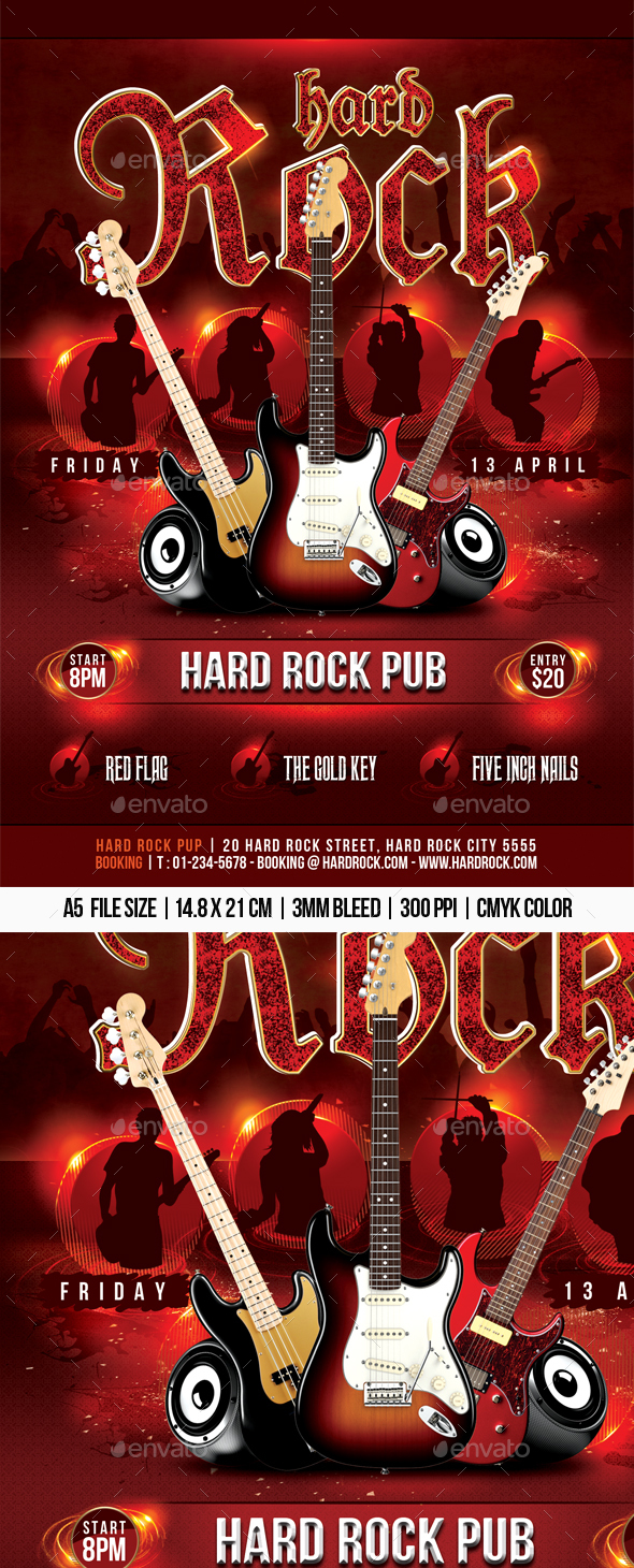 Hard Rock Flyer - Concerts Events