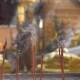 Smoking Incense Sticks for Praying Buddha Gods To Show Respect. a Lot of Smoke Is Flowing - VideoHive Item for Sale