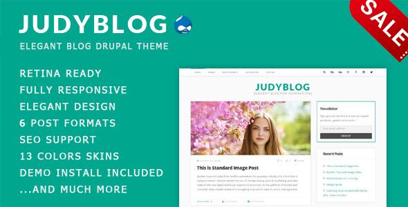 Image of JudyBlog - Elegant Blog Drupal Theme