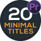 20 Minimal Titles - VideoHive Item for Sale