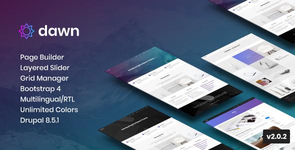 Dawn - Multipurpose Responsive Drupal 8 Theme - Creative Drupal