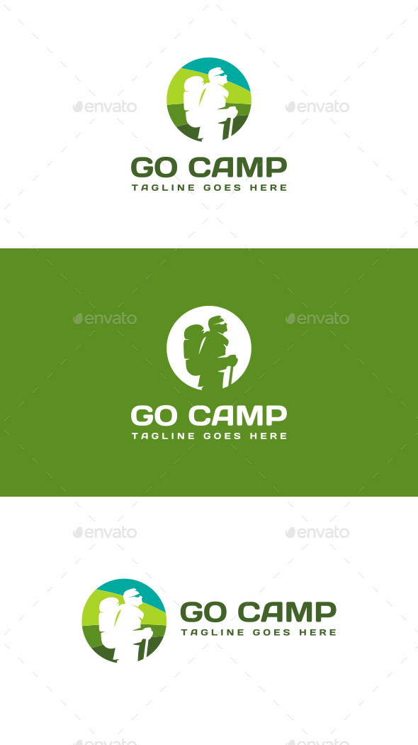 Camping - Humans Logo Templates