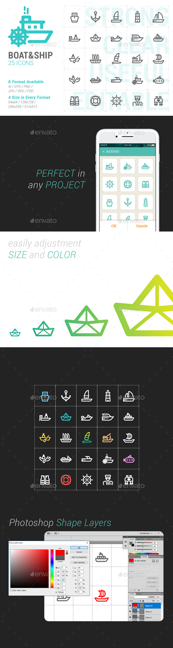 Boat & Ship Mini Icon - Objects Icons