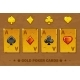 Old Golden Four Ace Poker Playing Cards