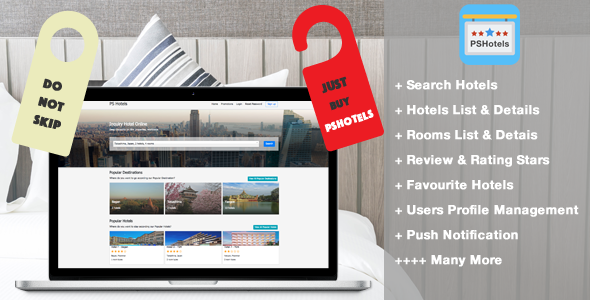 PSHotels Website (Ultimate Hotels Finder Website With Backend) - CodeCanyon Item for Sale