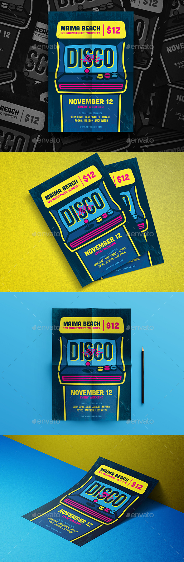 Neon Beer Party - Events Flyers