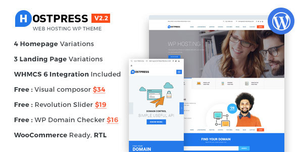 20 Best Hosting WordPress Themes 2019 16