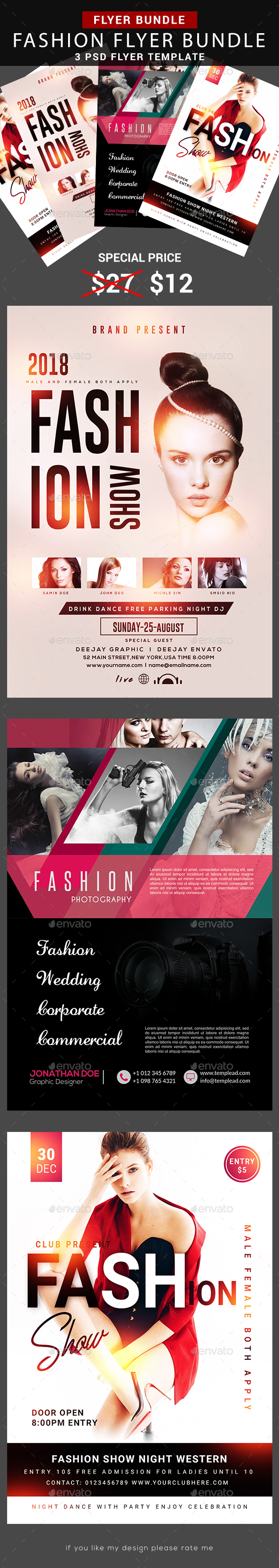 Fashion Flyer Bundle - Flyers Print Templates