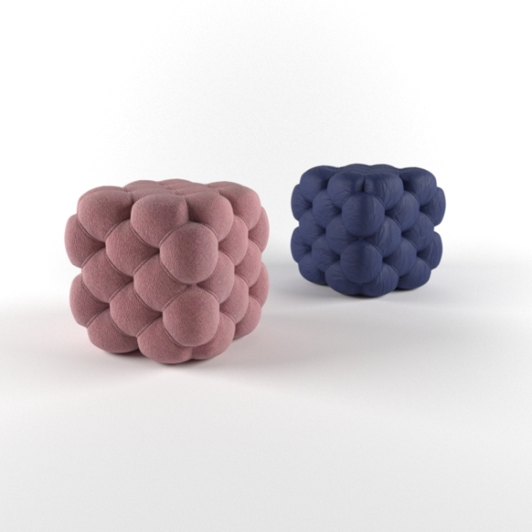 pouf cub - 3DOcean Item for Sale