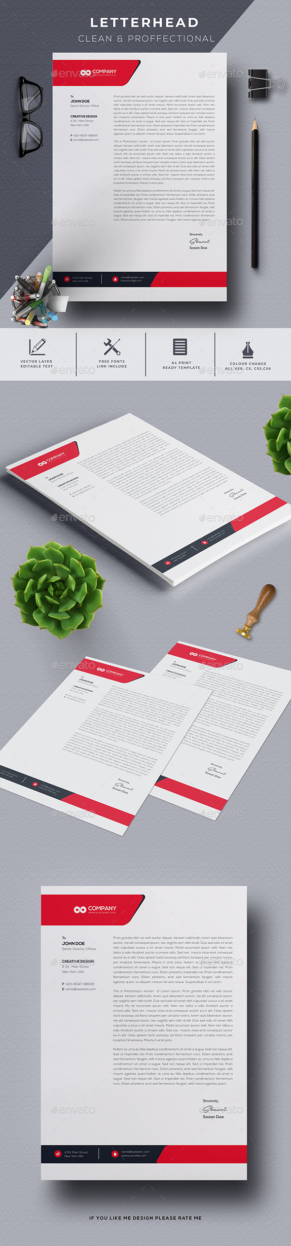 Letter Head - Stationery Print Templates