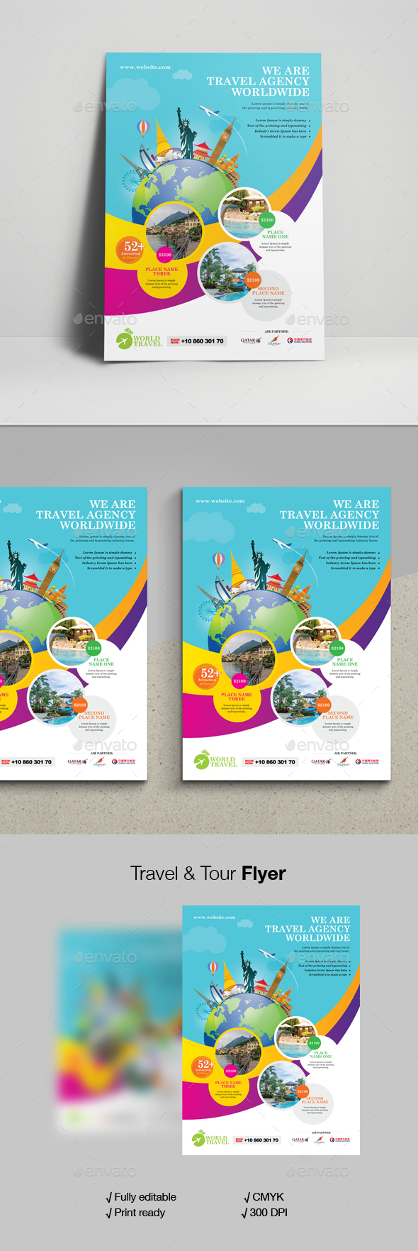 Travel & Tour Flyer - Corporate Flyers