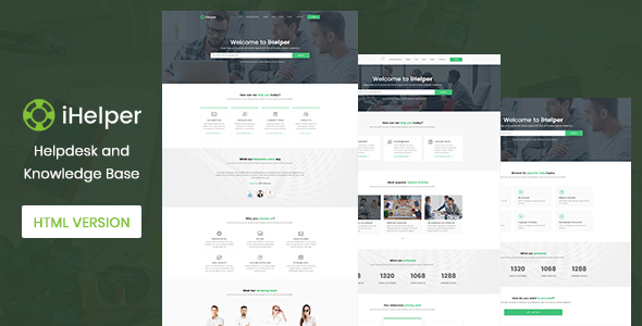 iHelper – Helpdesk and Knowledge Base HTML5 Template | Bootstrap4