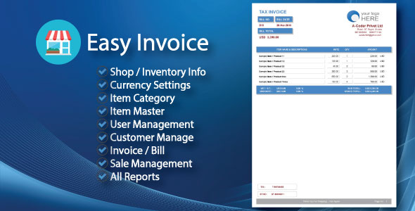 invoice for sale