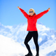 Woman happiness portrait on mountain peak - PhotoDune Item for Sale
