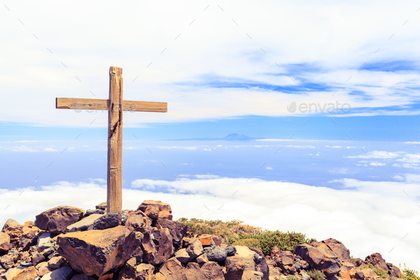Christian cross on mountain top Stock Photo by blas | PhotoDune