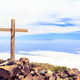 Christian cross on mountain top - PhotoDune Item for Sale
