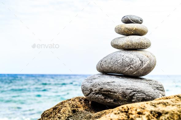 Stones balance inspiration wellness concept - Stock Photo - Images