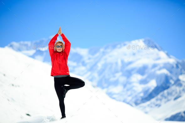 Freedom happy yoga meditation - Stock Photo - Images