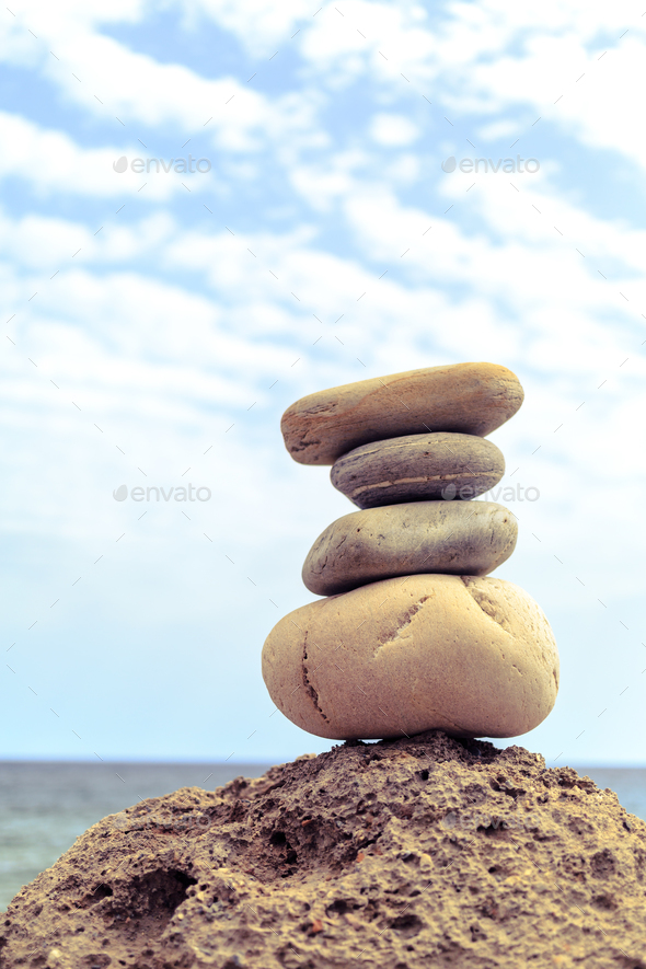 Stones balance inspiration wellness concept - Stock Photo - Images