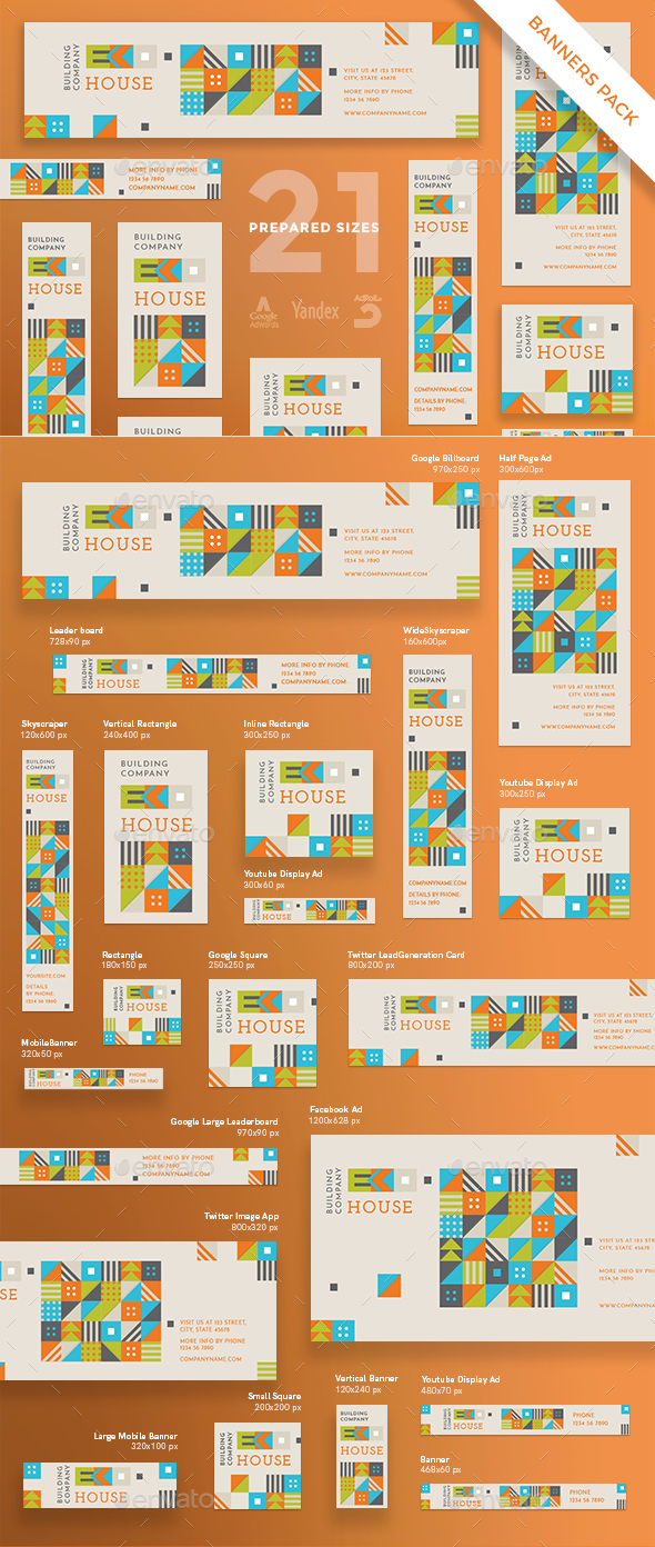 Eco House Banner Pack - Banners & Ads Web Elements