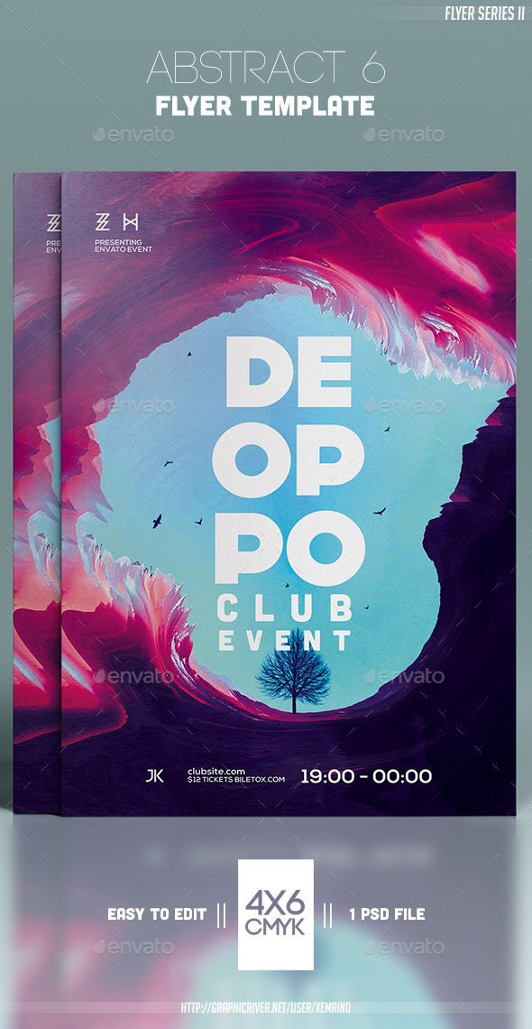 Abstract 6 Flyer Template - Clubs & Parties Events