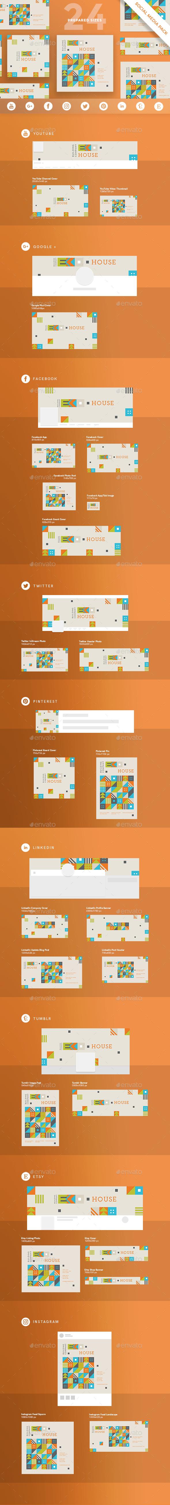 Eco House Social Media Pack - Miscellaneous Social Media