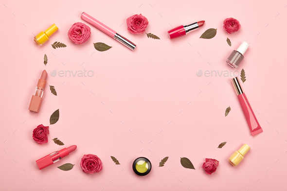 Fashionable Women's Cosmetics and Accessories - Stock Photo - Images