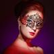 Beautiful woman in venetian masquerade mask - PhotoDune Item for Sale