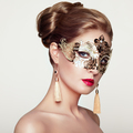 Beautiful woman in venetian masquerade mask - PhotoDune Item for Sale