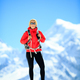 Hiking woman portrait on mountain peak - PhotoDune Item for Sale