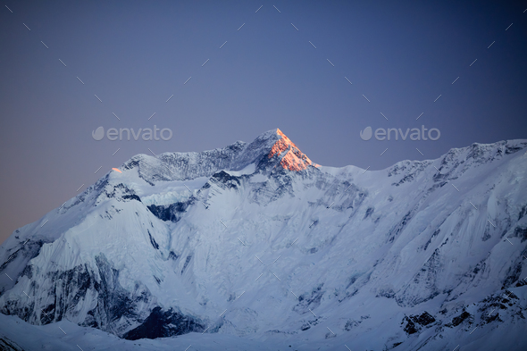 Mountain inspirational landscape, Annapurna range Nepal - Stock Photo - Images