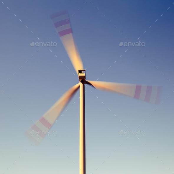 Wind turbine, alternative energy - Stock Photo - Images