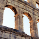 Roman amphitheater arena, ancient coliseum architecture in Pula - PhotoDune Item for Sale