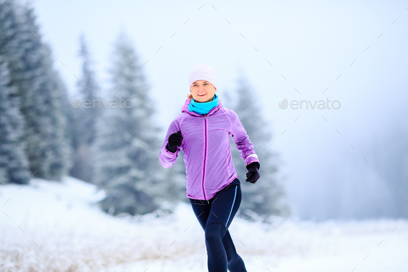 Woman running inspiration and motivation, runner - Stock Photo - Images