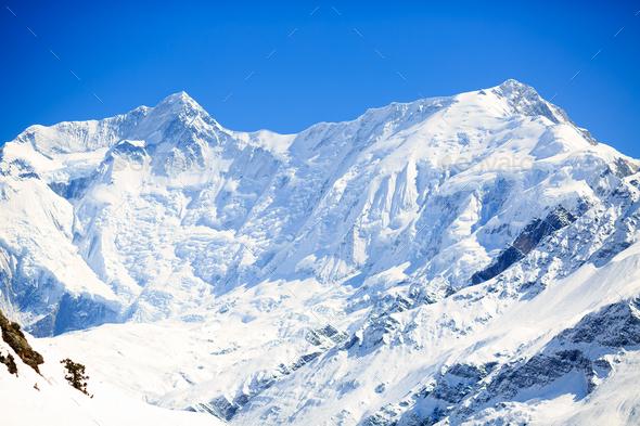 Mountain inspirational landscape, Annapurna range Nepal - Stock Photo - Images