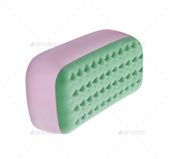 sponge on white background - Stock Photo - Images