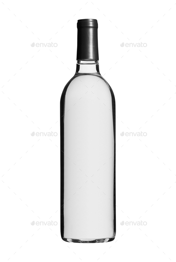 bottle of vodka isolated on white - Stock Photo - Images