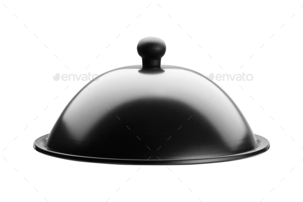 Catering dome isolated on white - Stock Photo - Images