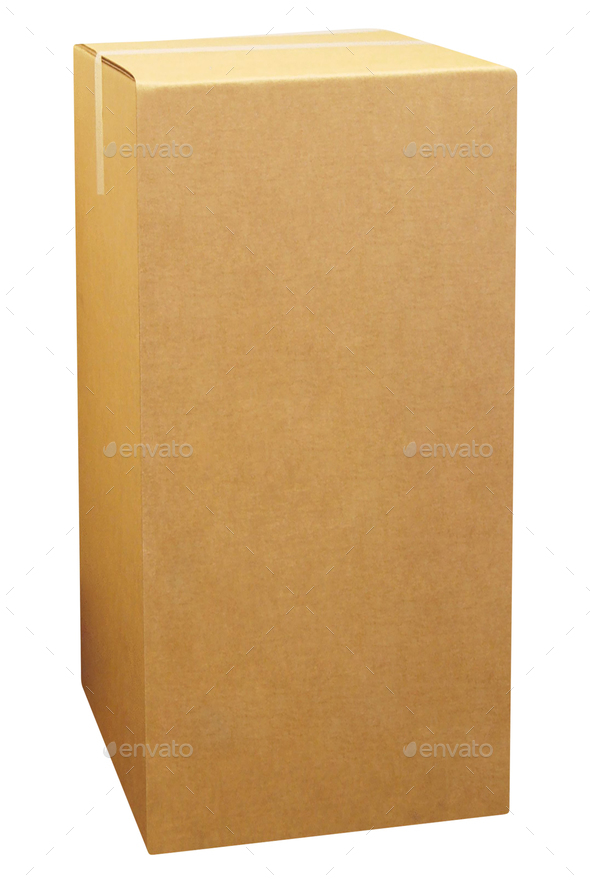A Cardboard box - Stock Photo - Images