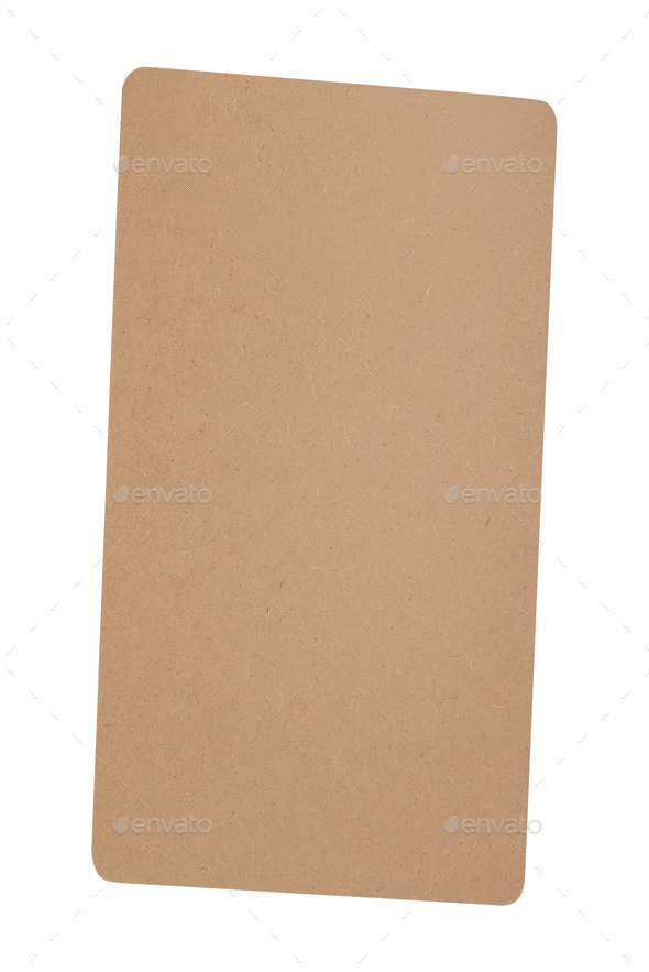 Cardboard sheet isolated on white - Stock Photo - Images