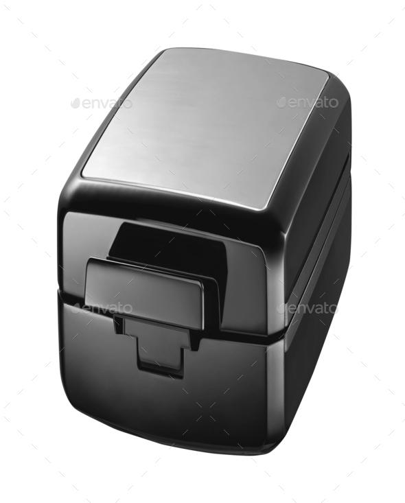 Black case isolated on white - Stock Photo - Images