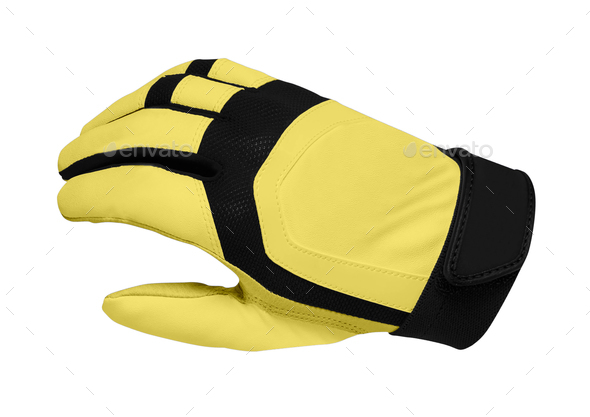 Yellow sport gloves - Stock Photo - Images
