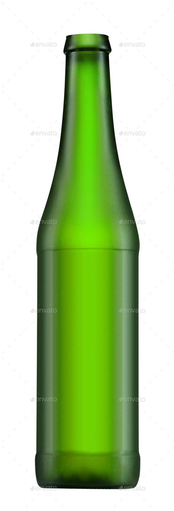 green beer bottle isolated on white - Stock Photo - Images