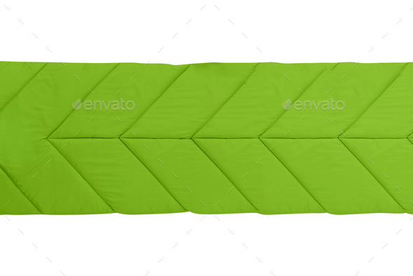camp sleeping bag isolated on white - Stock Photo - Images