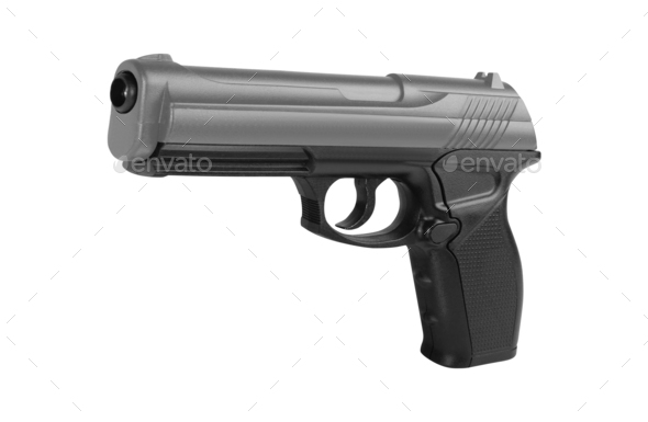 Handgun isolated on white - Stock Photo - Images